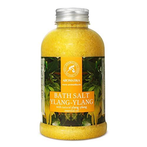 Sali da Bagno Ylang-Ylang 600g - Sale Marino con Olio di Ylang-Ylang Essenziale - per un Buon Sonno - Riduzione dello Stress - Cura del Corpo - Rilassamento - Aromaterapia - Bath Salt