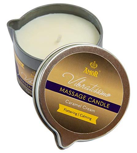 Vibratissimo Candela da Massaggio Caramel Cream, 100 ml