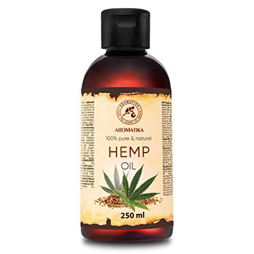 Olio Canapa Viso - Corpo e Capelli - 250ml - Olio di Base Naturale e Puro al 100% - Ottimo con Olio Essenziale - Aromaterapia - Rilassamento