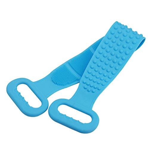 Healifty rondella esfoliante per asciugamano in silicone per scrubber sul dorso per uomo e donna (blu)