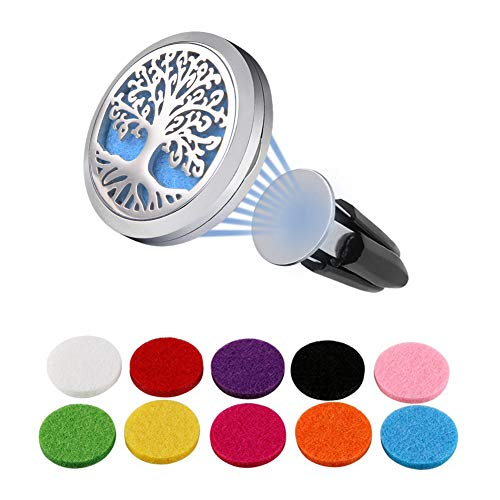 Vicloon Diffusore d'olio Essenziale di aromaterapia, Magnete Diffusore Olio per Auto, Ufficio, Stanza o Altri luoghi Interni