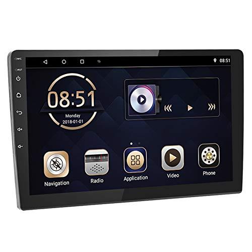 Android 9.0 Doppio Din Stereo Auto WiFi Bluetooth con Mappa Universale, ZIJIN Radio Auto HD 10,1'' Per Auto 1G+16G, Navigazione Collegamento A Specchio Dual USB MP3 RCA