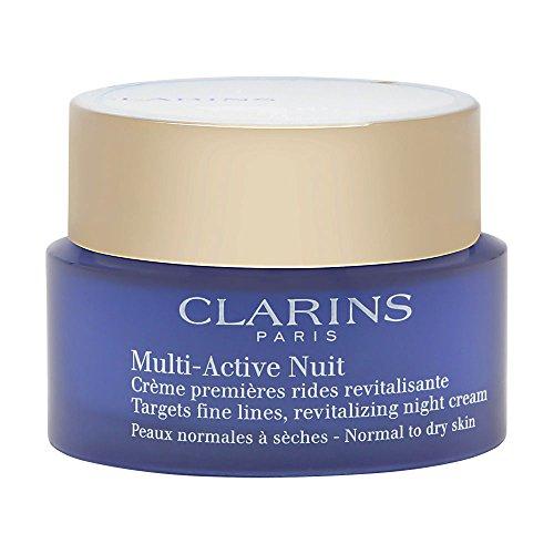 Clarins Crema Multi Active Nuit - Crema Viso per pelle normale e secca, 50 ml