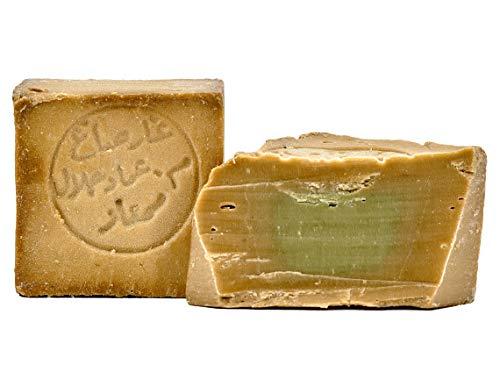 Carenesse Original Sapone di Aleppo 200 g, 80% di Olio d' oliva e 20% di Alloro, sapone naturale in realizzato a mano secondo tradizione vecchio ricetta e maturazione lungo tempo