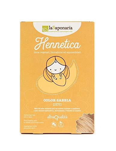 La Saponaria Tinta capelli vegetale Sabbia Devi 100g