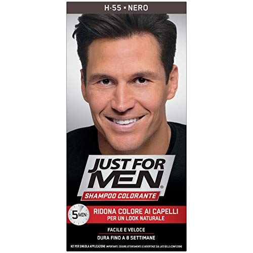 Just For Men Shampoo Colorante, H55 – Nero, Unica