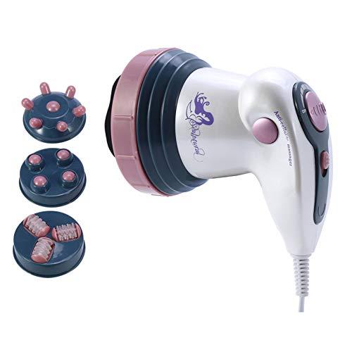Profi Massaggiatore elettrico dispositivo di cavitazione a infrarossi, massaggiatore elettrico indietro Massaggiatore Shiatsu per la perdita di grasso contro la cellulite anticellulite(rosso)