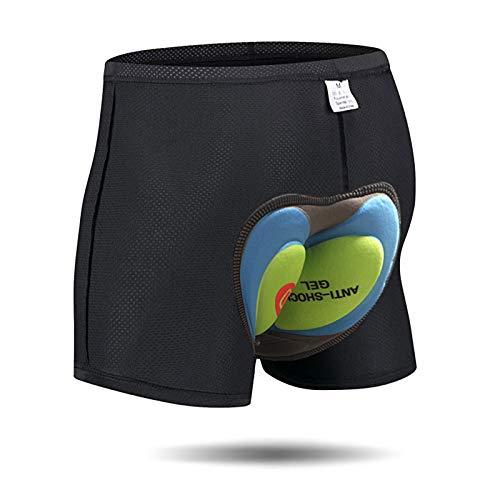 Pantaloncini Corti da Bicicletta Bici da Ciclismo 4D Imbottitura Antibatterica in Gel di silice Ciclismo Cinture da Bicicletta Underwear MTB Bike Short Pants (4D, L) (Verde, XL)