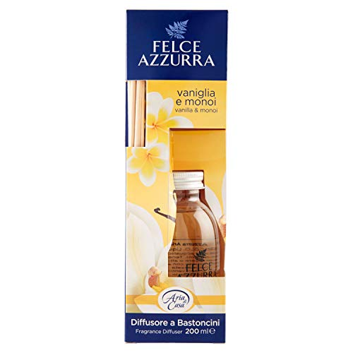 Felce Azzura Diffusore a Bastoncini, Con vaniglia e monoi, 200 ml
