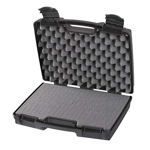 Plastica Panaro, Serie Advanced - Valigetta in Plastica da Imballaggio con Spugna Bugnata e Cubettata 170/33S Nera per Trasportare e Proteggere ogni Oggetto, Dimensioni Esterne 337x290x84 mm