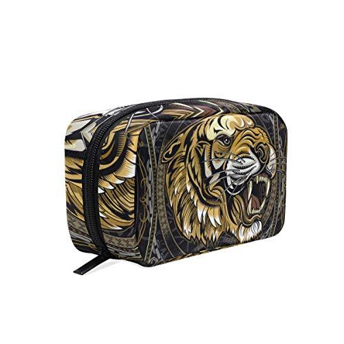 Beauty case Tiger King - Beauty case da viaggio per cosmetici da donna
