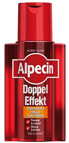 Alpecin shampoo alla caffeina Doppel Effekt, 1 x 200 ml – Lo shampoo che previene la caduta dei capelli e elimina la forfora