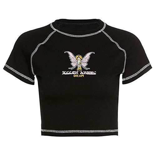 Werstand Camicie di Base della Farfalla delle Donne Camicie da Donna Farfalla Magliette per Le Donne Fashion Womens Tshirts T-Shirt da Maglietta Rotonda Donne Benefit
