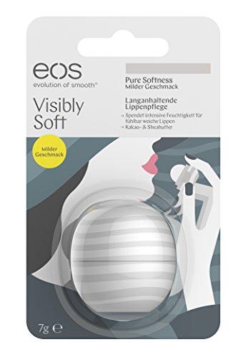 EOS visibly Soft Pure Softness Smooth Sphere Balsamo Per Le Labbra, Confezione da, 7G