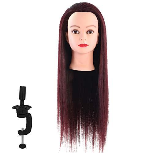 testina per parrucchiere testina professionale da 23 62 pollici testina per parrucchiere per capelli rossi con staffa di serraggio modello da parrucchiere per la testa di lavaggio e treccia