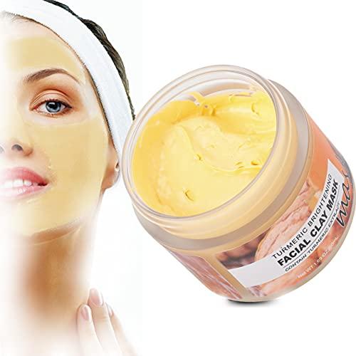 Maschera all'argilla alla curcuma, 50 ml Maschera peel-off Maschera al fango nutriente illuminante Riduce le rughe Prodotti per la cura della pelle adatti per la pelle iperpigmentata