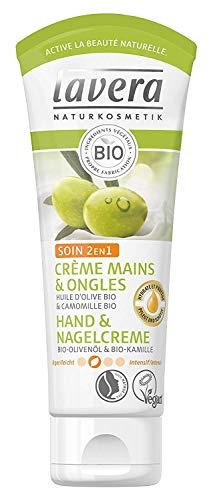 Lavera Hand & Nail Crema 2 in1 cura ∙ Bio Olio d' oliva & Bio Camomilla ∙ Crema Per Le Mani zieht veloce un ∙ Vegan ✔ Bio ✔ Natural & innovative Hand Care ✔cosmetico naturale Confezione da 75ml