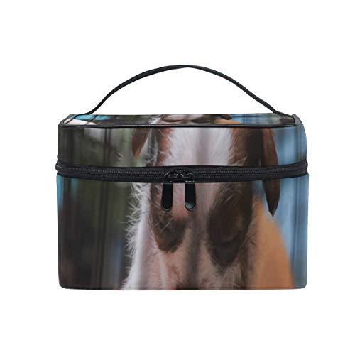 Borse per cosmetici Cosmetic Bag Twin Puppies Womens Makeup Organizer Girls Toiletry Case Box Lazy Zip Bag unique