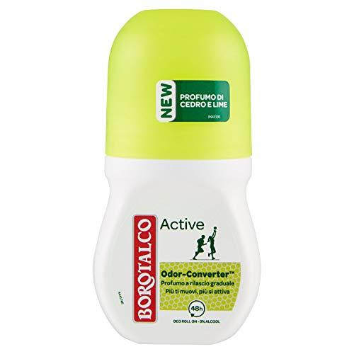 Borotalco Deodorante Roll, On Active Giallo, 50ml