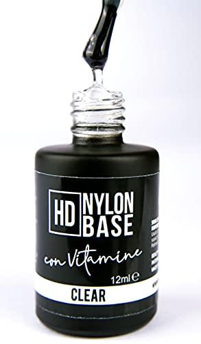CLEAR - Base soak off modellante rinforzante unghie con FIBRE di Nylon, vitamine e calcio - Tecnica SEMIPERMENTE con RINFORZO -12ml | Beauty Space nails