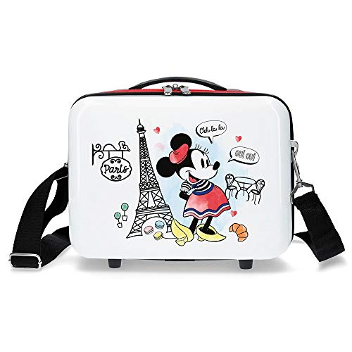 Disney Minnie Around the World Zaino portaon carrello Rosso 29x21x15 cms ABS