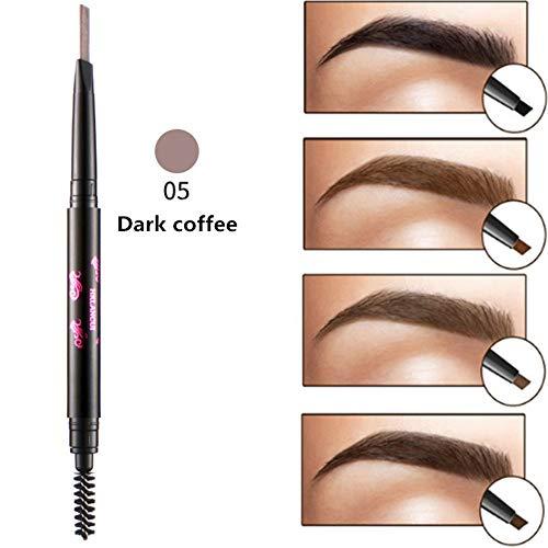Makeup-Ruwhere di precisione impermeabile sopracciglia doppio chiuso con sopracciglio matita con pennelli strumenti (5)