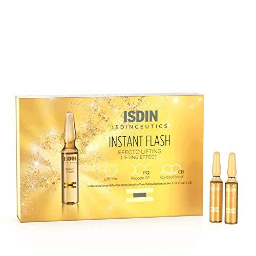 ISDIN Isdinceutics Instant Flash, Fiale con effetto lifting immediato | Elimina rughe e linee d'espressione con azione immediata | 5 fiale