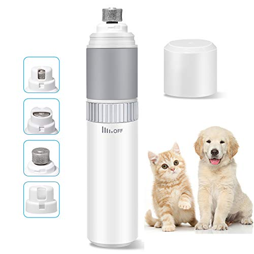 ShinePick Tagliaunghie Elettrico per Cani e Gatti, Basso Rumore Elettrico Smerigliatrice per Animali Domestici con 3 Porte per Artigli Piccoli/Medi/Grandi