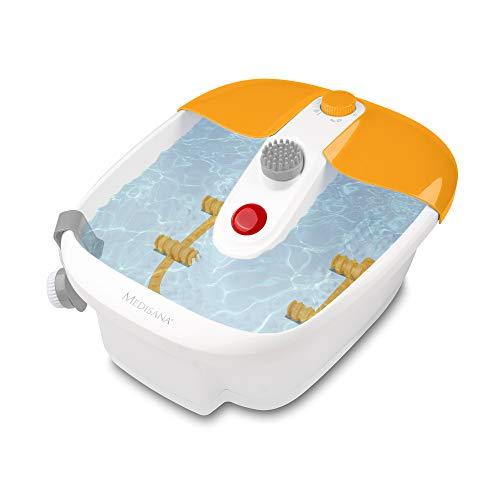 Medisana FS 883 Idromassaggio per i Piedicon Funzione di Riscaldamento, Massaggio a Vibrazione, Accessori per Pedicure, Pediluvio con Massaggio e Riscaldamento