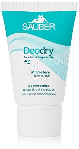 Sauber - Deodry, Deodorante Ipoallergenico, Formula Gel Rapido Assorbimento - 25 Ml