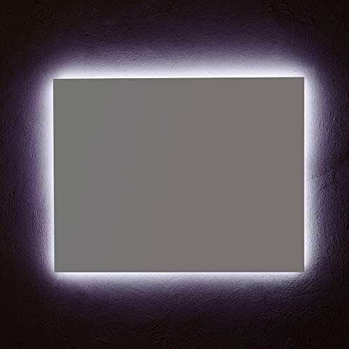 SPECCHIO ARREDO BAGNO CM 90X70 ILLUMINAZIONE A LED