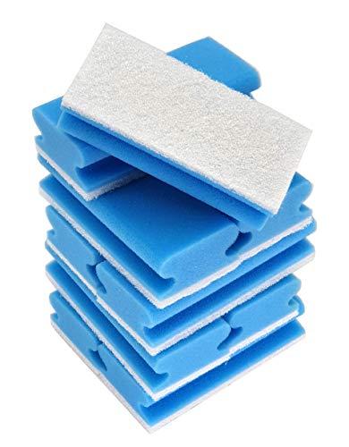 SCHAUMEX® Set di 10 spugne per la pulizia senza graffi, morbide, lavabili, in spugna, per la casa, con tessuto non tessuto e impugnatura