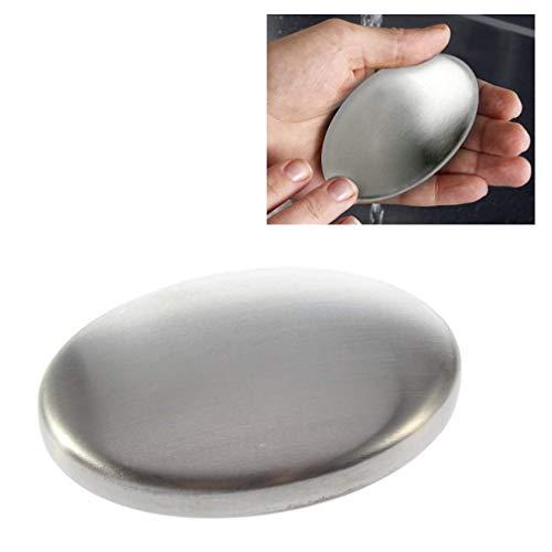 TopKitchenGadgets™ Acciaio Inox Saponetta ✰ Riutilizzabile Odore Rimozione Cucina Mano Detergente ✰ Rimuove Aglio, Cipolle & Pesce Odora ✰ Chimico Gratis & Ecocompatibile✰