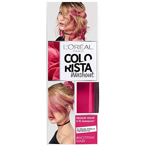 L'Oréal Paris Colorista Washout Pastel Colorazione Temporanea Capelli, Rosa Acceso (Hotpink), 80 ml