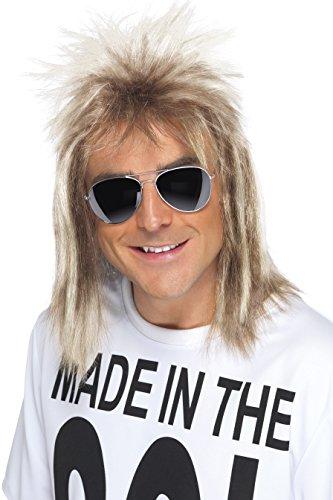 SMIFFYS Smiffy's Parrucca Taglio alla Tedesca Anni '80, Biondo Cenere Uomo, Unica, 42021
