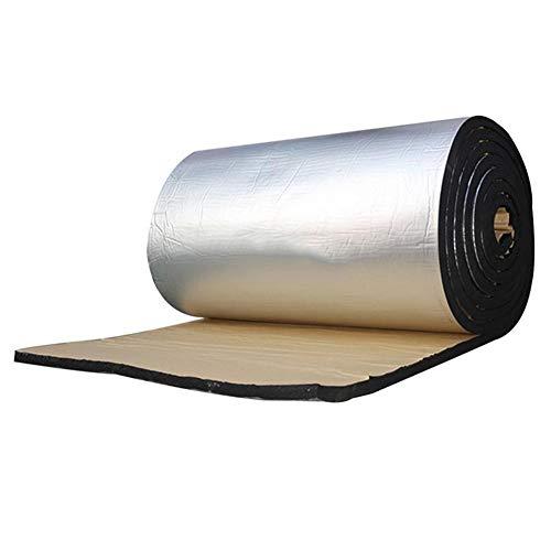 Feunet Cuscinetto ignifugo per Auto, Foglio di Alluminio 10mm fonoassorbente Tappetino in Cotone fonoassorbente Isolante Scudo Termico Pad per Porte tetti Pavimenti Tronchi