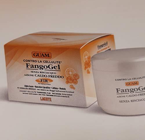 Guam FangoGel Contro La Cellulite Senza Risciacquo Azione Caldo-Freddo Con Nanosfere Lipoattive, Caffeina, Mentolo 300 ml