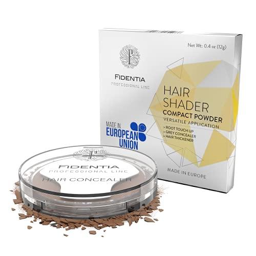 Fidentia Hair Shader Ritocco Radici e Capelli Grigi perfetto e instantaneo - 12g, Marrone Medio