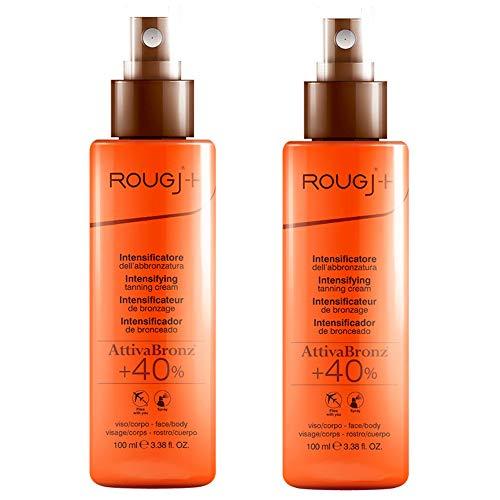 2x Rougj - SOLARI - Intensificatore dell' abbronzatura ATTIVABRONZ Spray Viso/Corpo 100ml - Super Abbronzatura +40% | Spray formato Viaggio | in OMAGGIO Tisana alle Erbe TISANIAMO