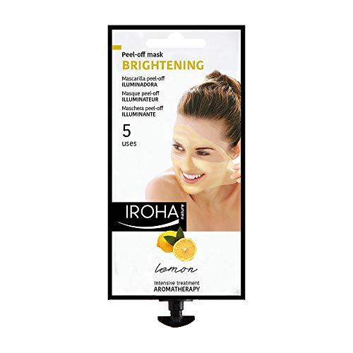 Iroha Nature Maschera per il viso in Crema Peel Off Illuminante con Limone, 5 usi (1 x 25 g)
