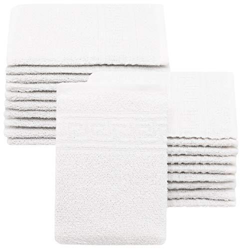 ZOLLNER 20 manopole da bagno, 16x22 cm, bianco, altri colori