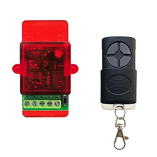 Kit apriporta automatico telecomandato per elettroserratura - cancellino nserratura elettrica a 12-24Vca - si collega direttamente al pulsante di apertura senza necessità di alimentazione