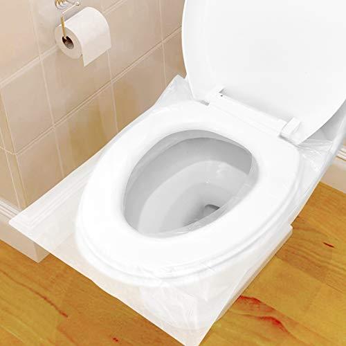 60 PZ Copriwater Usa e Getta, Copri WC Usa e Getta Pacchetto Singolo Materiale Antibatterico Dimensione Universale Perfetto per I Bagni Pubblici in Viaggio e in Campeggio