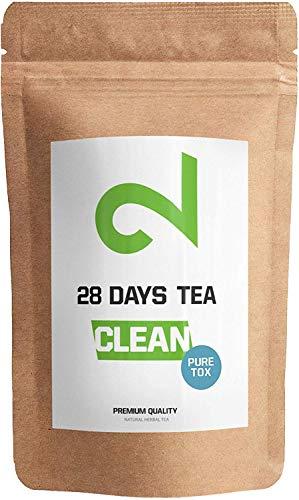 Dual 28 Days Detox Tea - Tè Disintossicazione |Per la Perdita di Peso|Tè Dimagrante E Purificante|Tè Per La Dieta E Per La Perdita Di Grasso|Alimentare Naturale|Tè A Foglia Sfusa|Made In Germany| 85g
