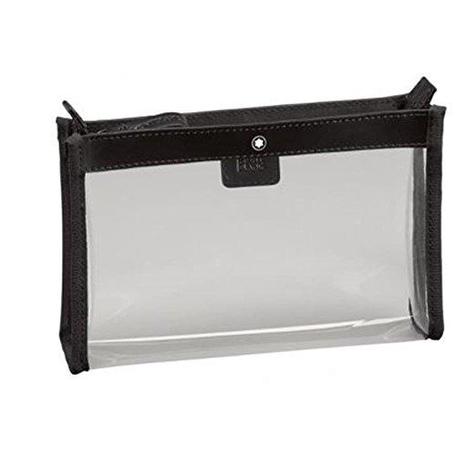 Montblanc Nightflight Flugetui - Beauty case per liquidi, colore: Nero/Trasparente