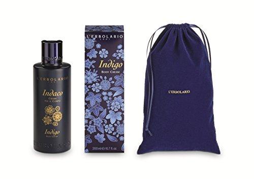 L'Erbolario, Indaco, crema per il corpo con sacchetto di velluto, 200 ml (etichetta in lingua italiana non garantita)