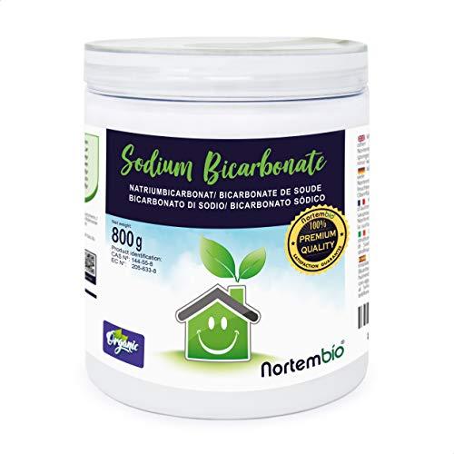 Nortembio Bicarbonato di Sodio 800 g, Input per la Produzione Biologica, Senza Alluminio, qualità Premium, 100% Naturale. E-Book Incluso.