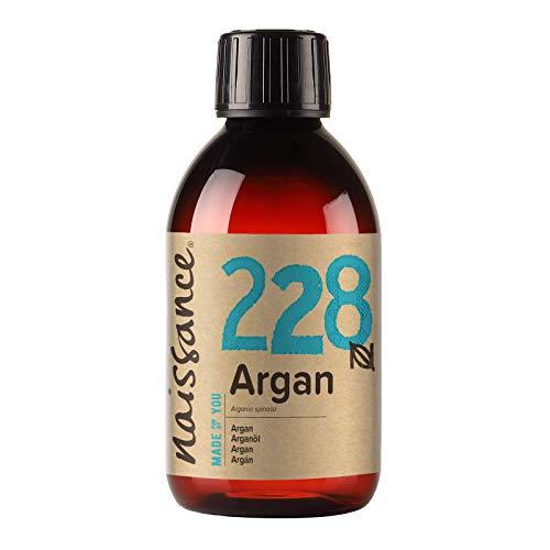 Naissance Olio di Argan del Marocco 250ml - Puro e Naturale, Antiossidante, Vegan, Senza Esano, Senza OGM - Idratante Naturale per Viso, Capelli, Pelle, Barba e Cuticole