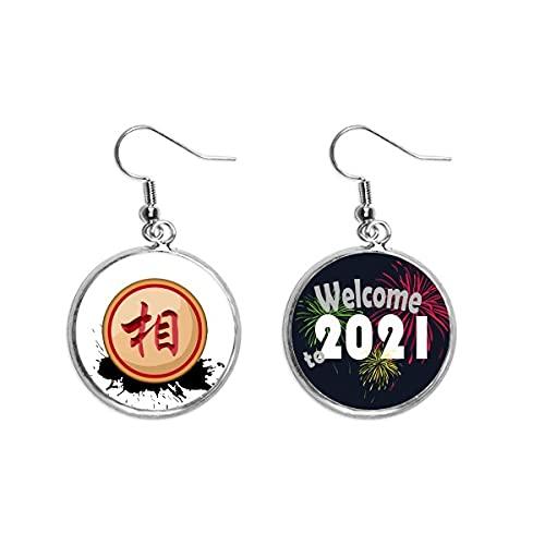 Monili dell'orecchino dei pendenti dell'orecchio del ministro rosso degli scacchi cinese 2021 benedizione
