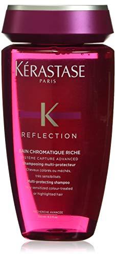 Kérastase Reflection Bain Chromatique Riche, Shampoo protettivo per capelli colorati e decolorati particolarmente sensibilizzati, 250 ml